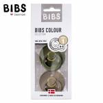 BIBS 2-PACK S GREEN HUNTER & DARK OAK  Smoczek Uspokajający kauczuk Hevea  (1)