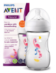 AVENT NATURAL 1M+ BUTELKA FLAMING 260 ML 070/21
