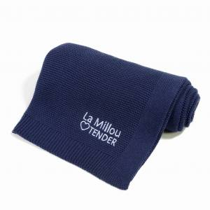 LA MILLOU KOCYK COTTON TENDER BLANKET  NAVY