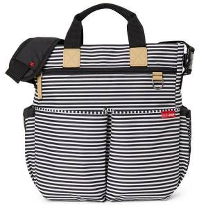 SKIP HOP Torba Duo Signature Black/White Stripe