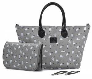 TORBA DO WÓZKA MOMMY BAG KINDERKRAFT SZARA