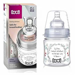LOVI 0M+ BUTELKA DO KARMIENIA TRENDS INDIAN SUMMER 120ML  21/582